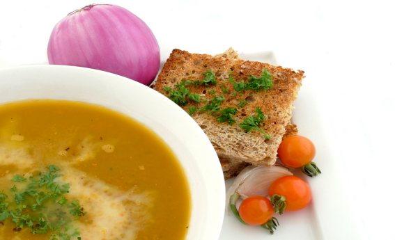 foto da receita Sopa de abóbora com carne