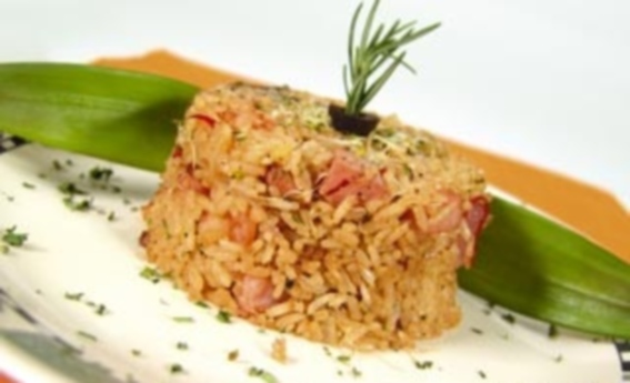 Arroz integral de forno