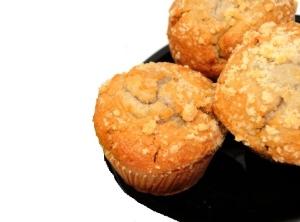 Muffins de banana com aveia