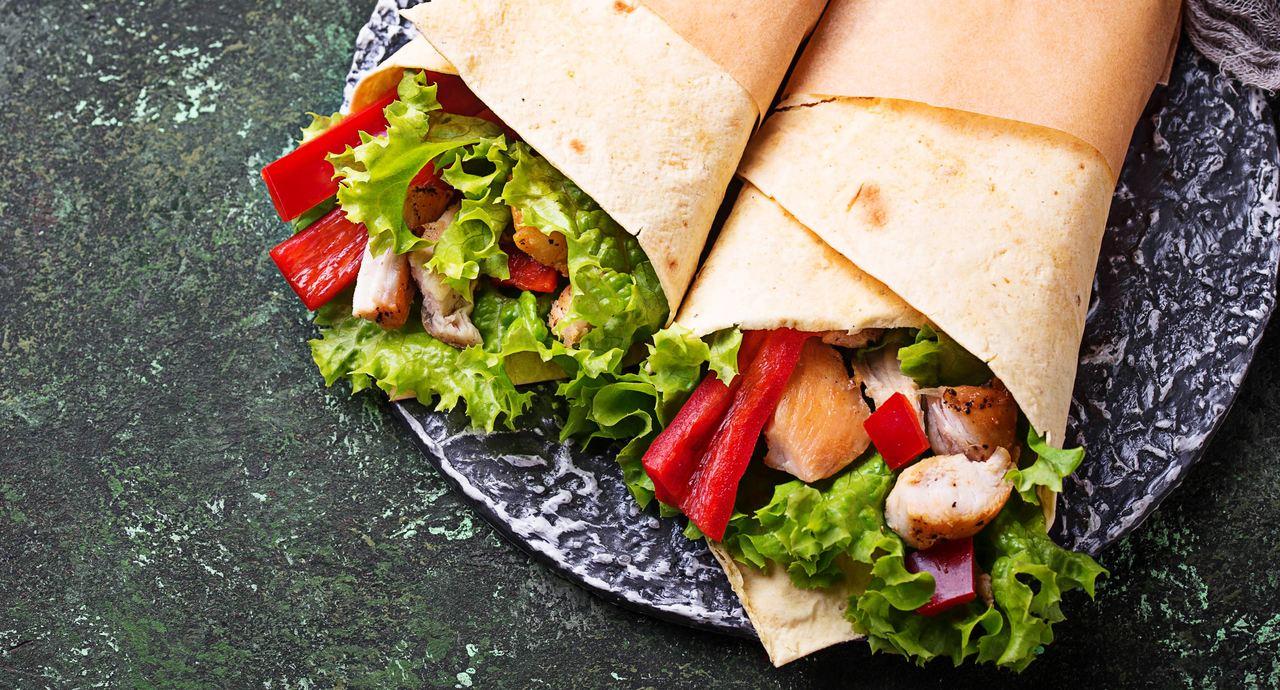foto da receita Wrap de frango com ricota