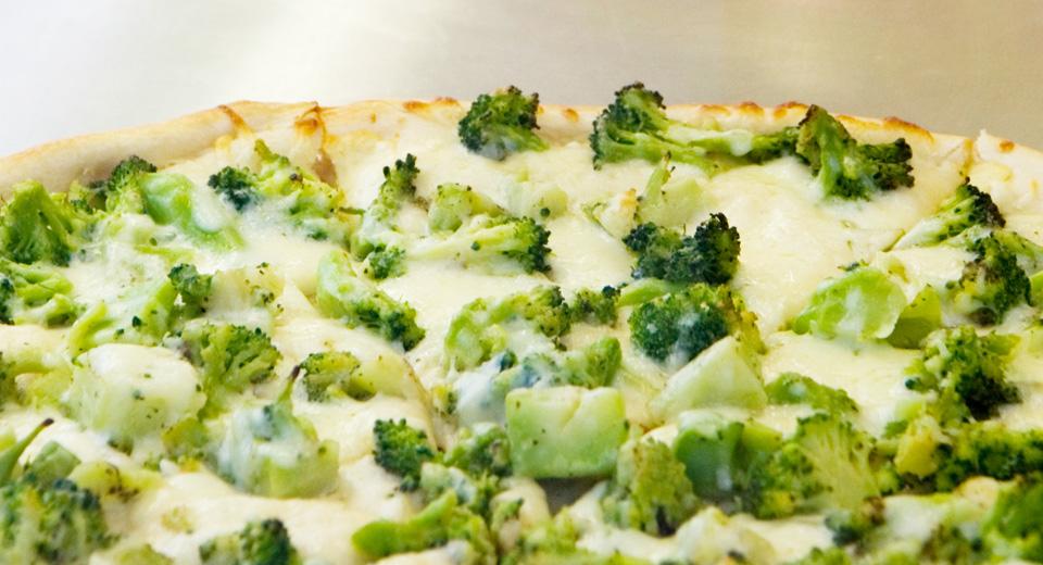 foto da receita Pizza integral de brócolis com requeijão