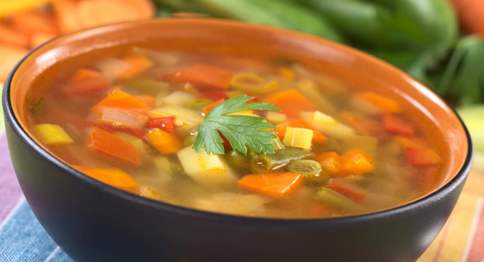 foto da receita Sopa de legumes de micro-ondas
