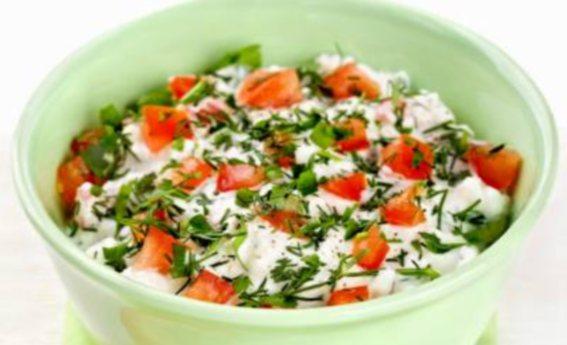 foto da receita Coalhada seca com tomate e ervas