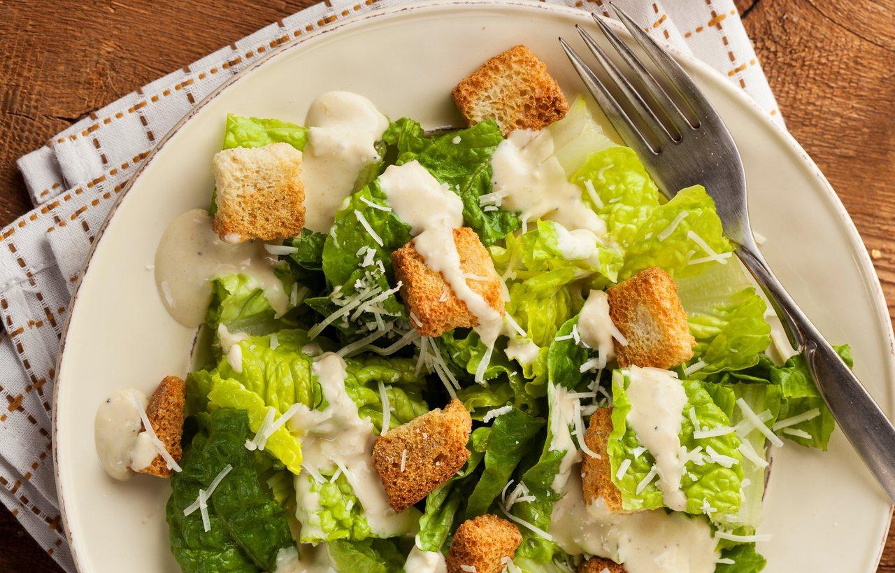 foto da receita Salada de legumes com croutons
