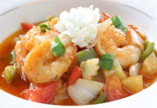 foto da receita Aspic de camarão