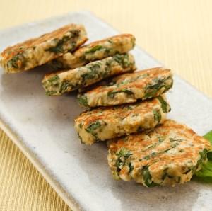 foto da receita Bolinho grelhado de aveia com espinafre