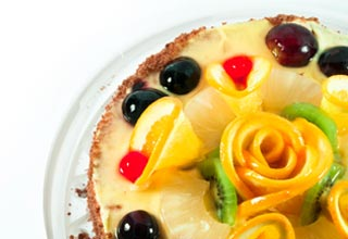 foto da receita Cassata de Natal com ricota e frutas