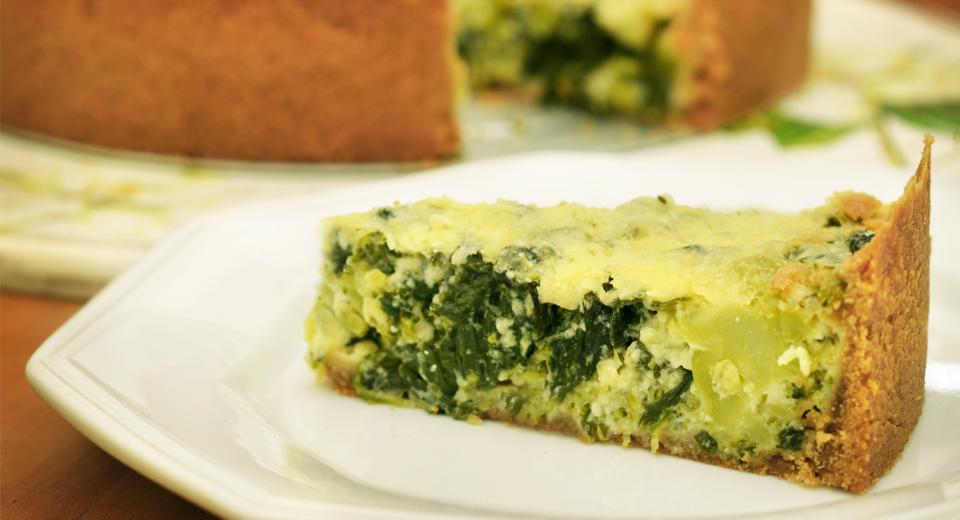 foto da receita Cheesecake de espinafre e brócolis