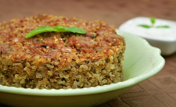 foto da receita Quibe assado com quinoa