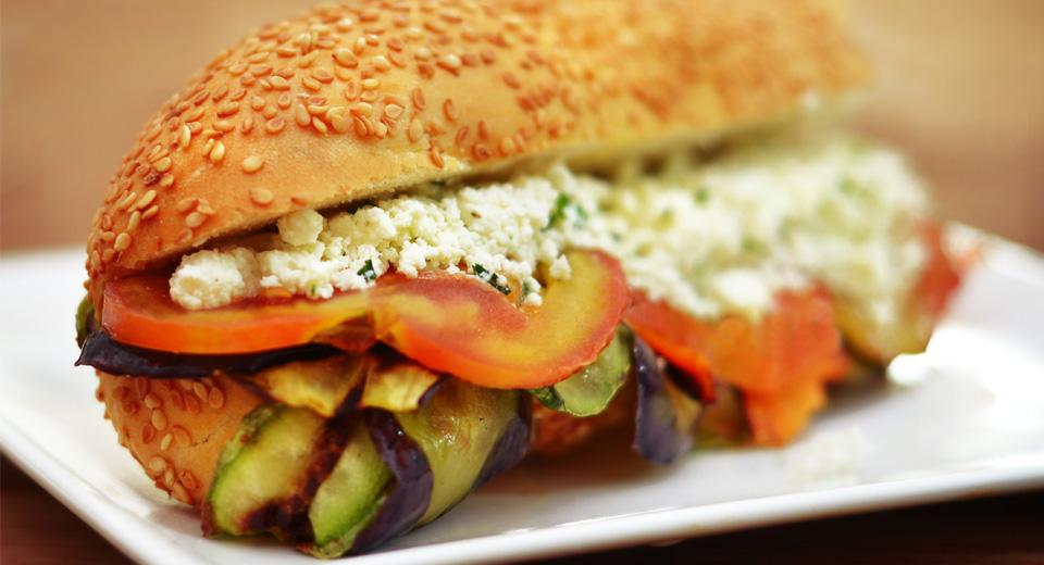 foto da receita Sanduiche vegetariano