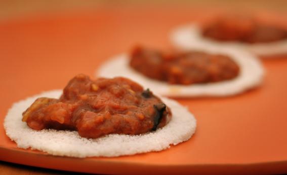 foto da receita Tapiocas com chutney de goiaba