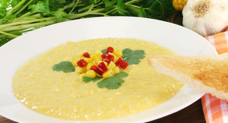 Sopa cremosa de milho