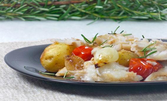 foto da receita Peixe de forno à portuguesa