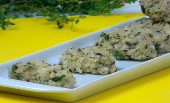Bolinho de arroz gourmet