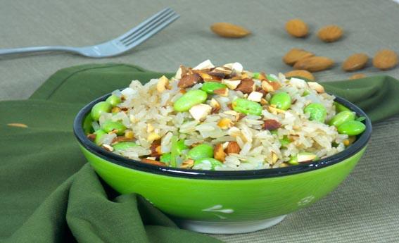 foto da receita Arroz integral com soja verde