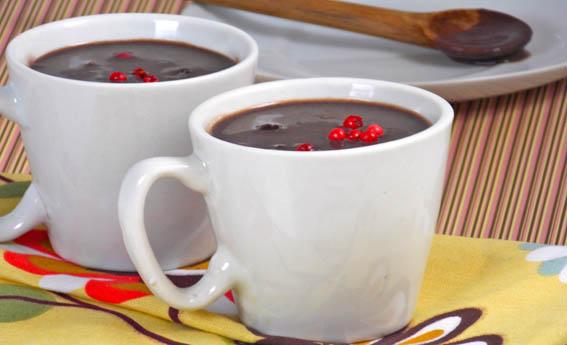 foto da receita Chocolate quente com pimenta rosa