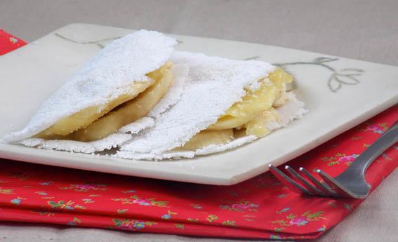 foto da receita Tapioca de banana com queijo