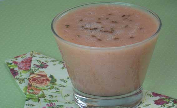 foto da receita Suco de melancia, goiaba e linhaça