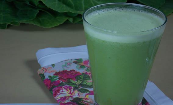 foto da receita Suco verde com água de coco