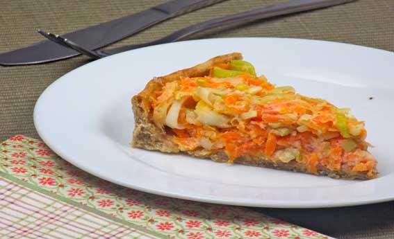 foto da receita Quiche de alho poró e cenoura