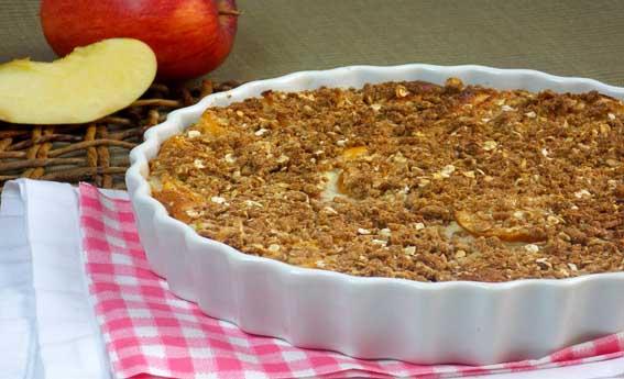 foto da receita Torta de maçã crocante