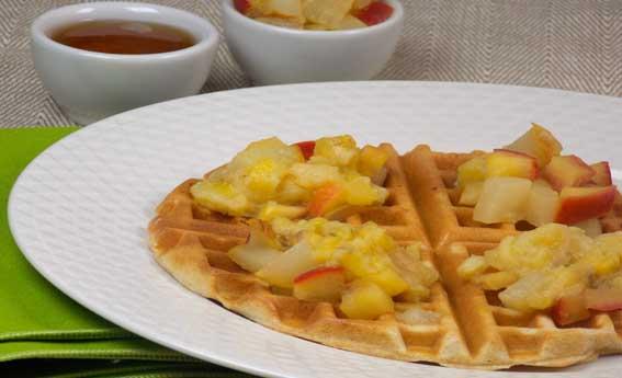 foto da receita Waffle com mix de frutas