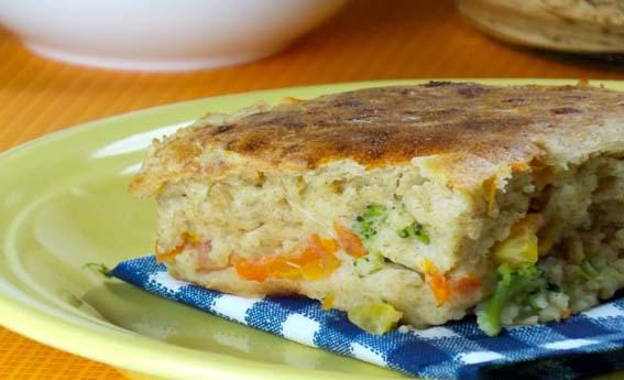 foto da receita Torta de legumes com proteína de soja