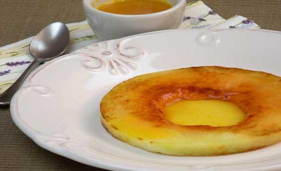 Melão grelhado com calda de laranja