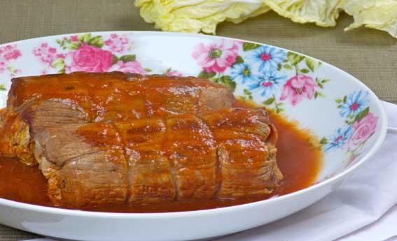 foto da receita Enroladinhos de carne recheados