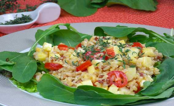 foto da receita Salada de arroz integral com maçã