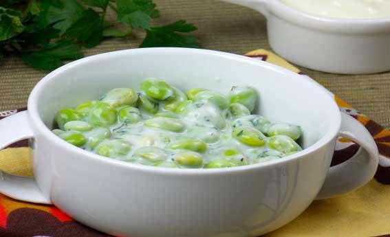 foto da receita Soja verde com iogurte