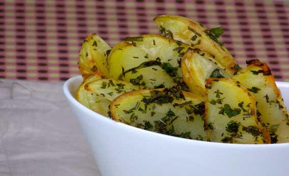 foto da receita Batata com crosta de ervas