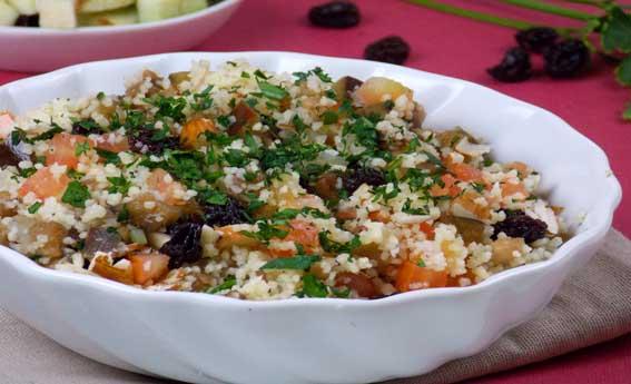 foto da receita Couscous marroquino com abobrinha e berinjela