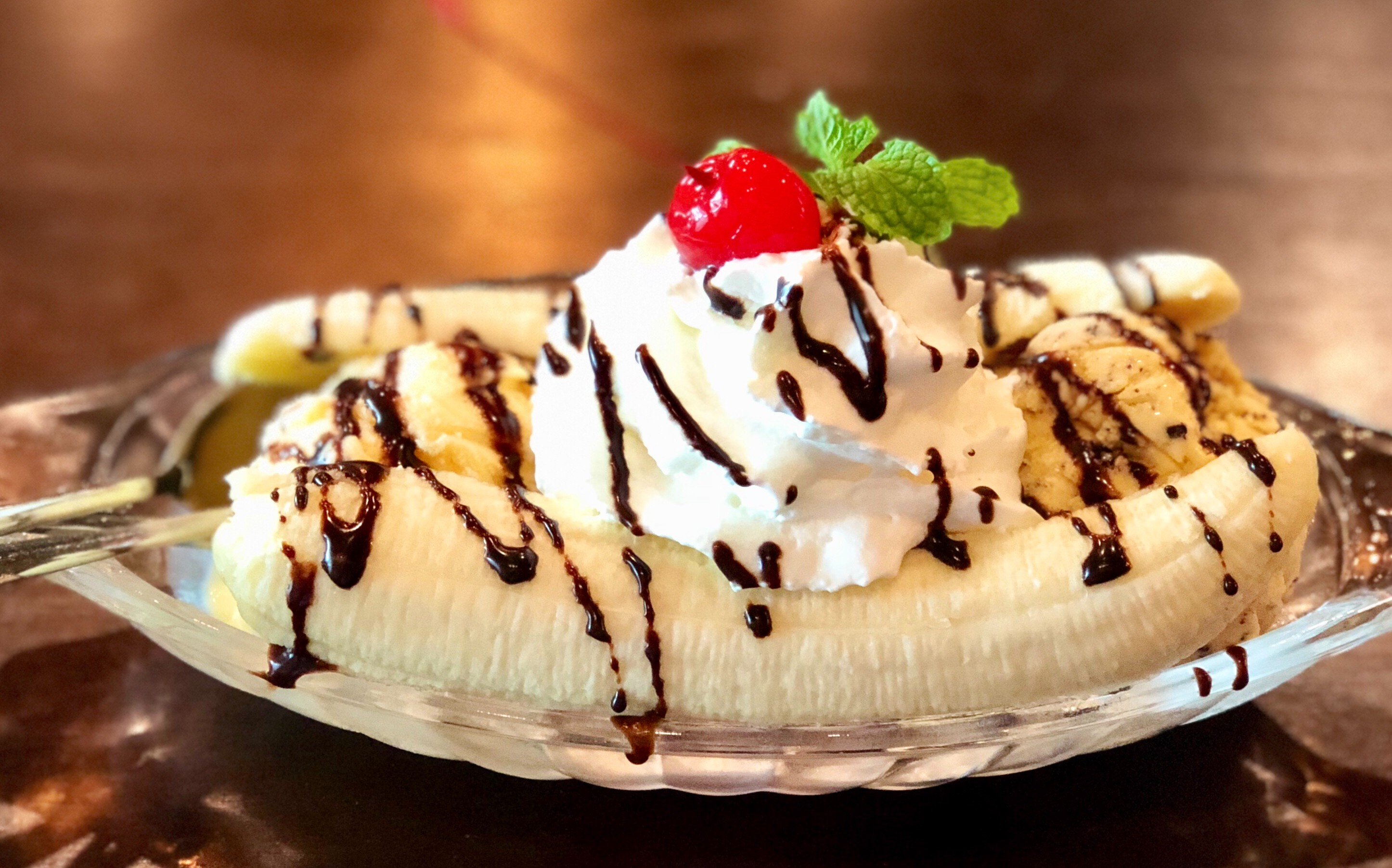 foto da receita Banana split light