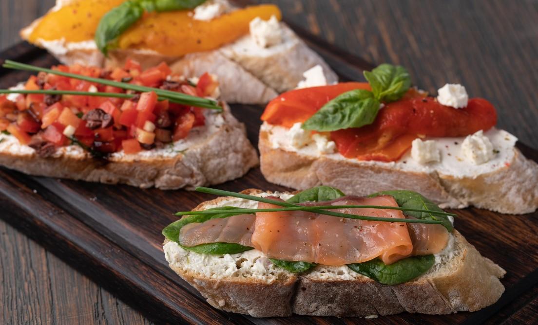 foto da receita Brusqueta de alho e queijo parmesão
