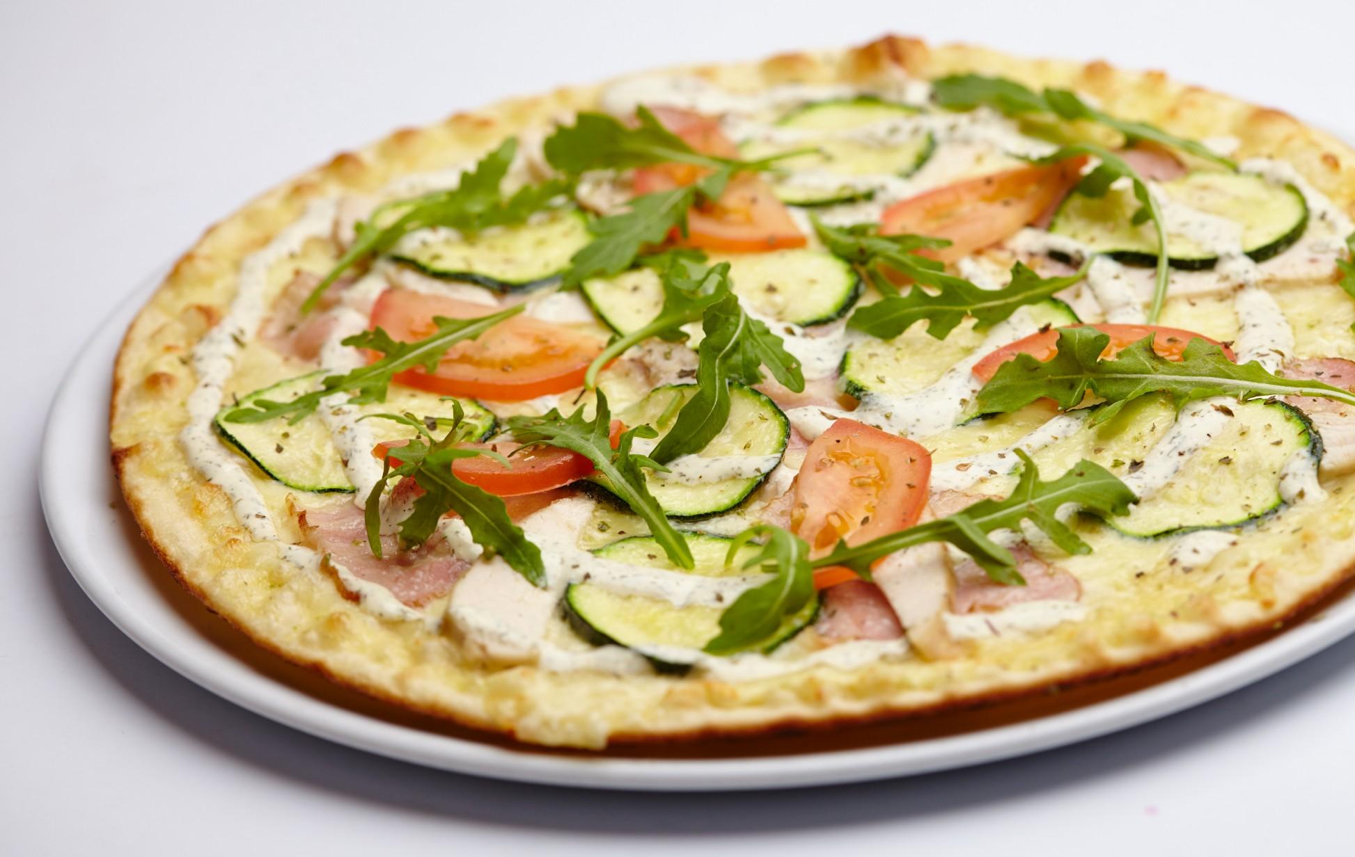 foto da receita Pizza de abobrinha
