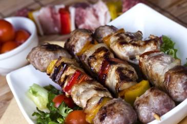 foto da receita Espetinho misto com legumes