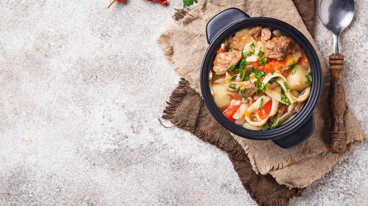 Sopa de carne com hortaliças