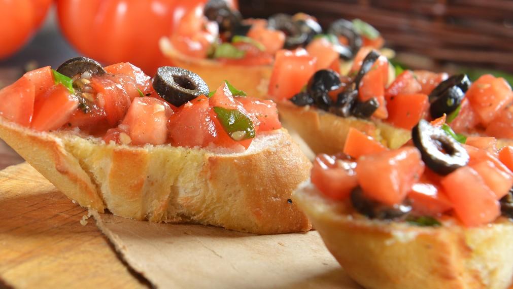 foto da receita Bruscheta com tomates