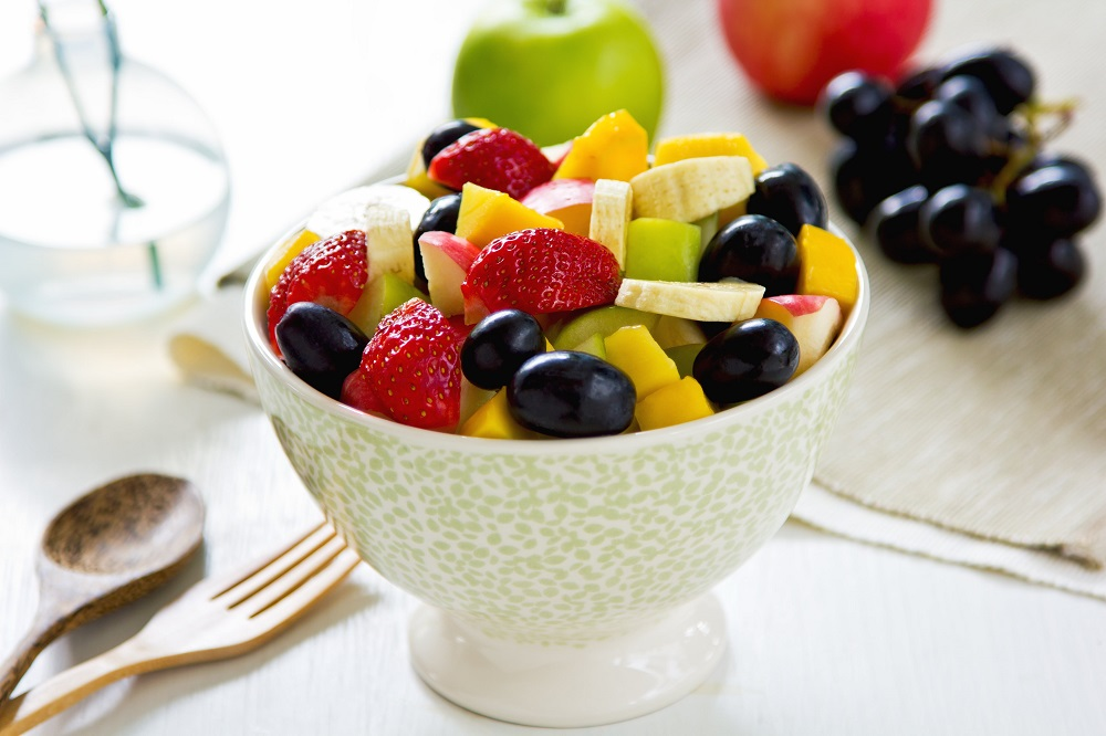 foto da receita Salada de frutas com cobertura de iogurte