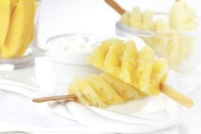 foto da receita Abacaxi com iogurte e toque de limão