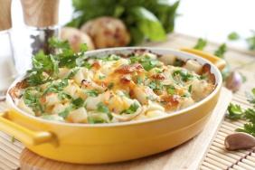 Legumes ao forno com queijo