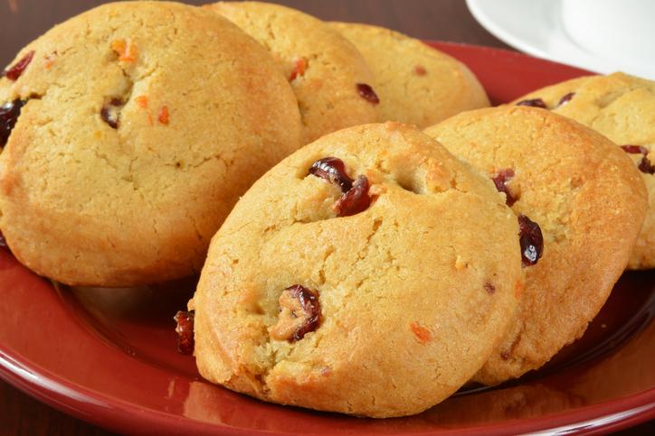 Cookies com sabor de laranja