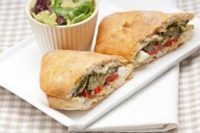 foto da receita Ciabatta com legumes
