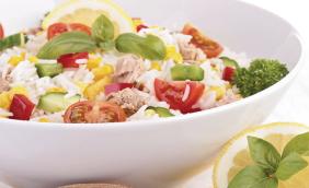 foto da receita Salada de arroz com vegetais