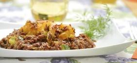 foto da receita Risoto de abóbora com carne seca