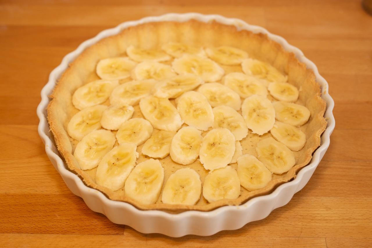 Torta crocante de banana