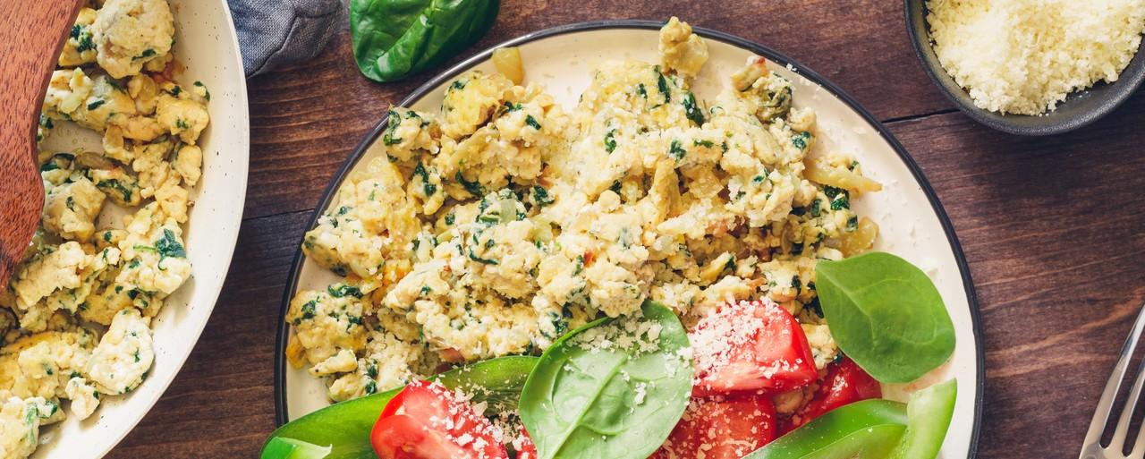 foto da receita Ovos mexidos com cogumelos