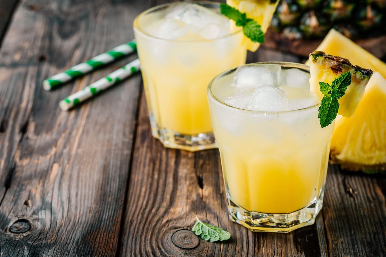 foto da receita Coquetel de abacaxi sem álcool