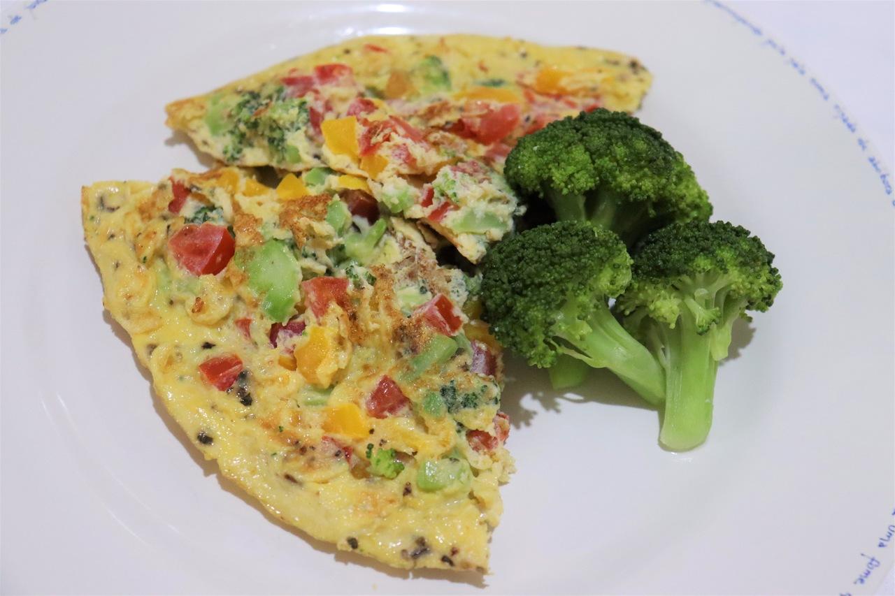 foto da receita Omelete colorida